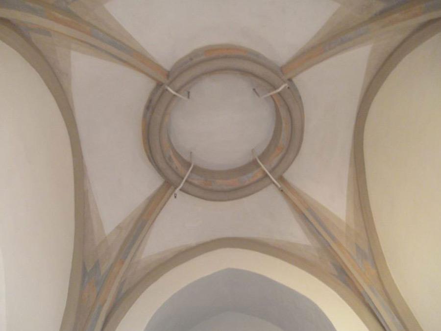 Farbfassung des Kreuzgewölbes