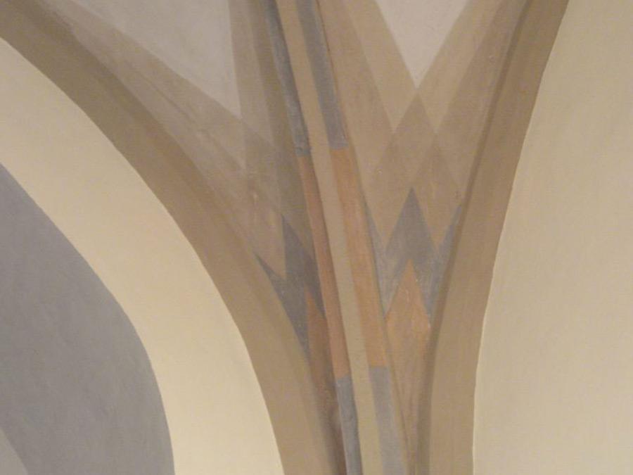 Detail der Farbfassung des Gewölbes